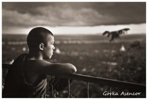 BIRMANIA MYANMAR MONJE BUDISTA
